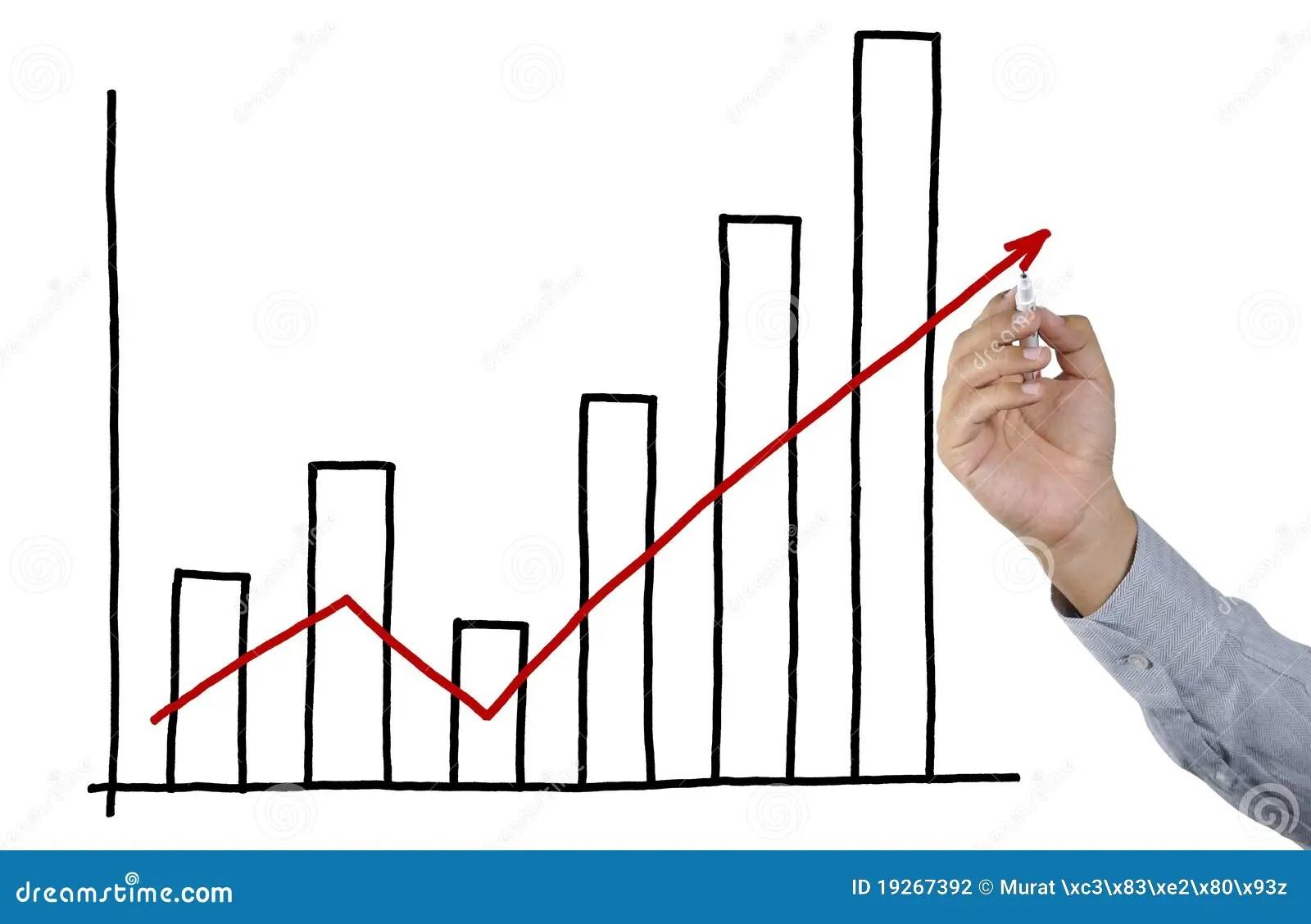 Businessman Drawing Bar Graph Stock Photo