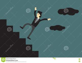 cartoon down falling staircase stairs steps businessman falls vector illustration business setting creative outdoor shutterstock concept preview