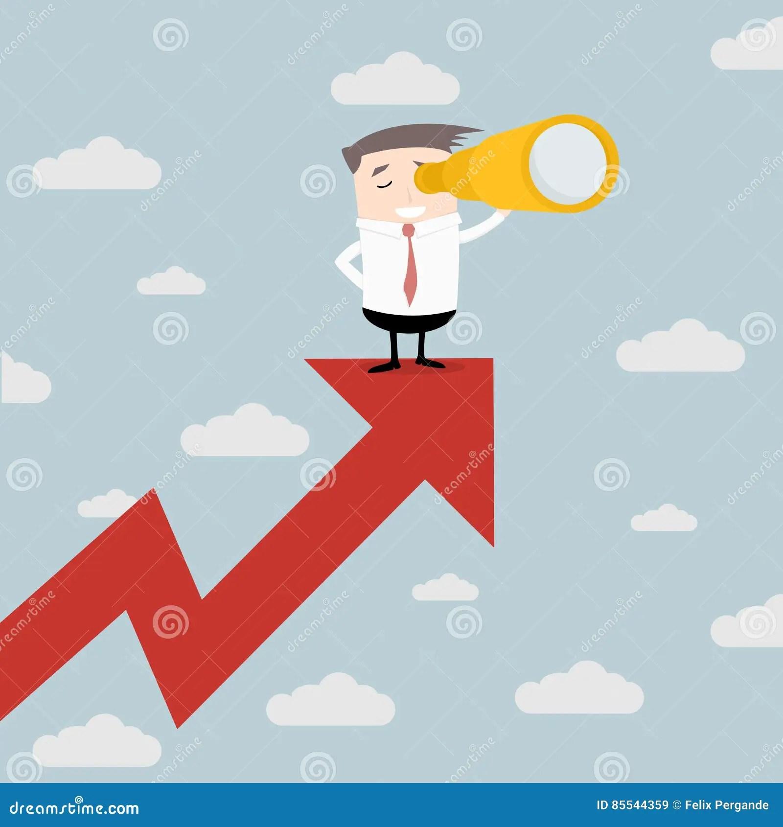 Businessman Future Trends stock illustration. Illustration of arrow - 85544359