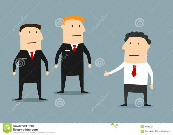 Businessman With Guards Meeting Stock Vector