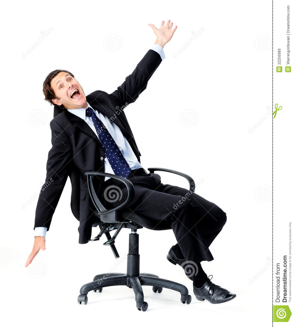 Fun Office Chairs Businessman Having Fun Royalty Free Stock Images Image