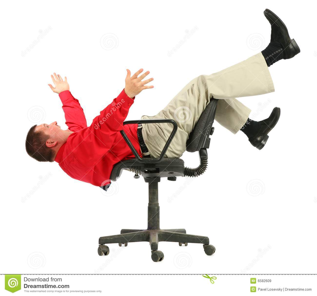 handstand chair holly hunt siren businessman in red shirt falls from chairs upside royalty
