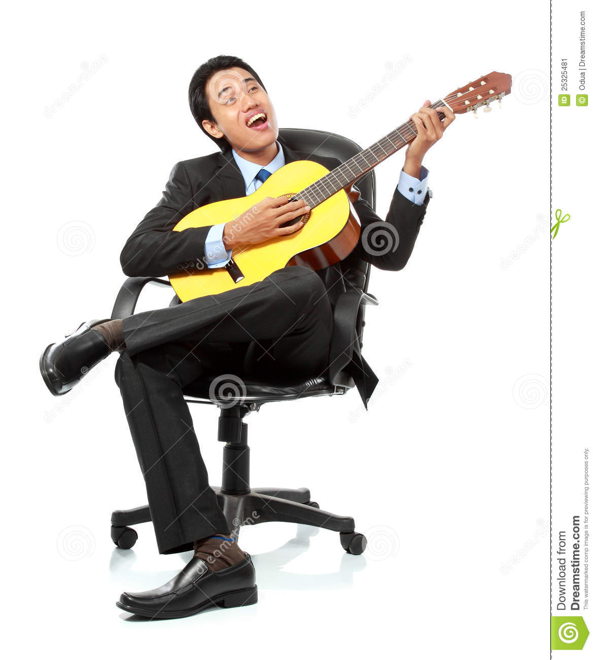 guitar playing chair land of nod businessman relaxing stock image 25325481