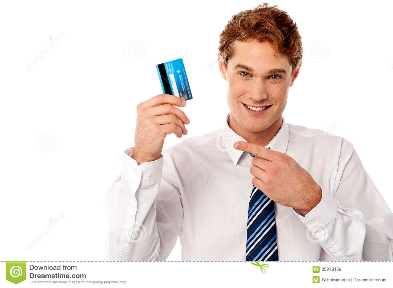 businessman showing his credit