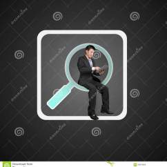 Behind The Chair App John Lewis Loose Covers Businessman Sitting On Searching Icon Using Smart Pad