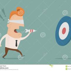 Office Chair Target Jessica Charles Chairs Ottomans Businessman Trying To Hit A With Darts Stock Vector - Image: 34776357