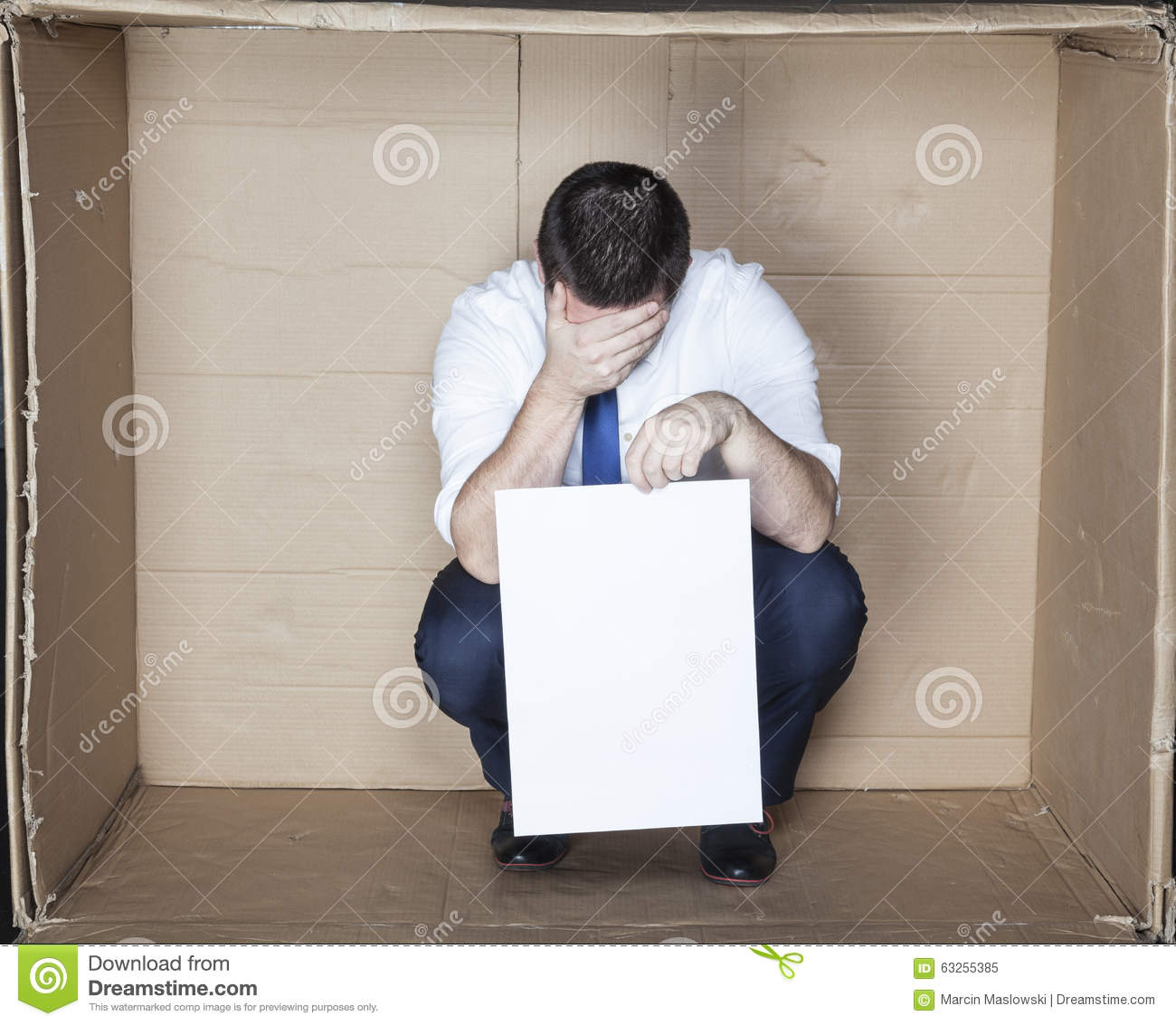 Businessman Unable To Find Work Stock Image - Image of ...
