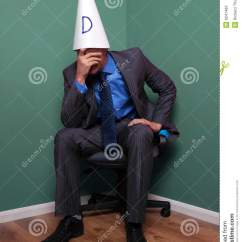 Office Chair Vector High Back Accent Chairs Canada Businessman Wearing A Dunce Hat Stock Image - Image: 9241483