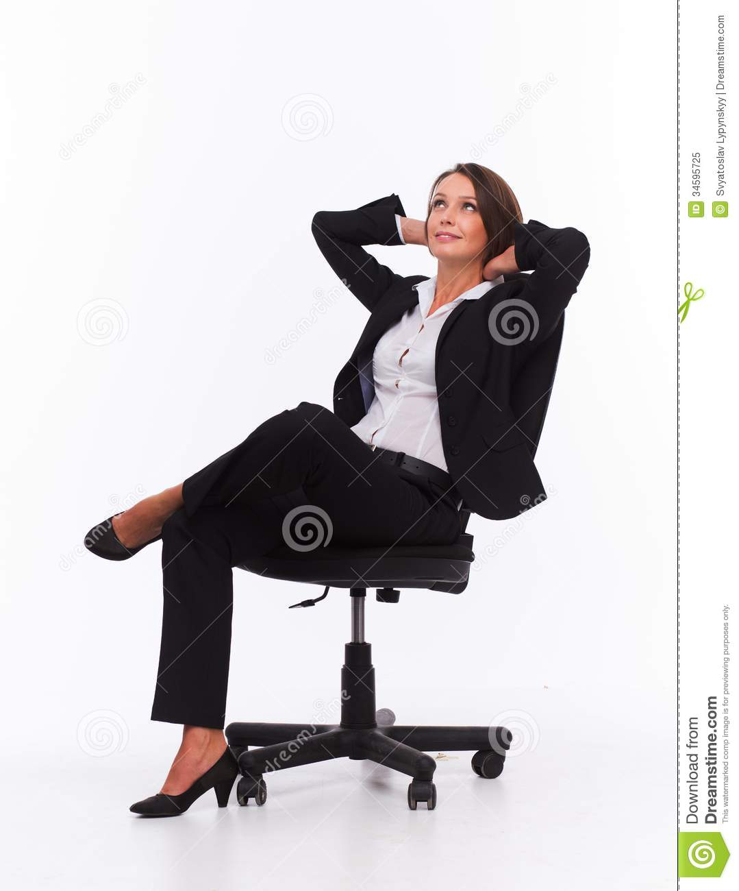 sit in your chair rattan armchair uk businesswoman on royalty free stock photo