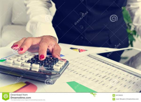 Desk Debts Bills Calculator Royalty-Free Stock Photo ...