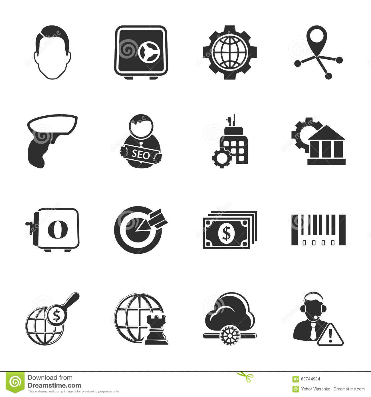 Bussines, Finance 16 Icons Universal Set For Web And