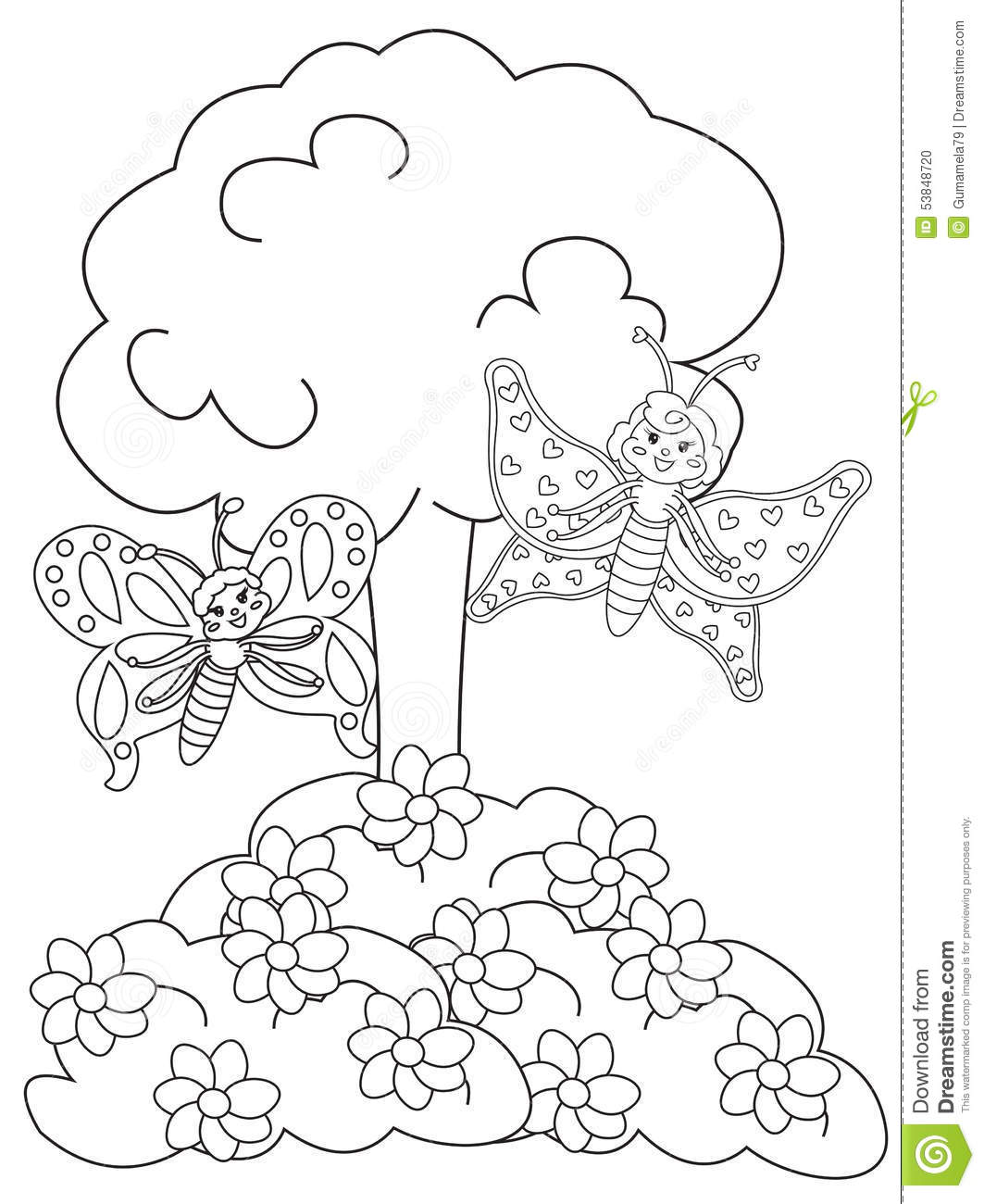 Flowerbed Coloring Pages