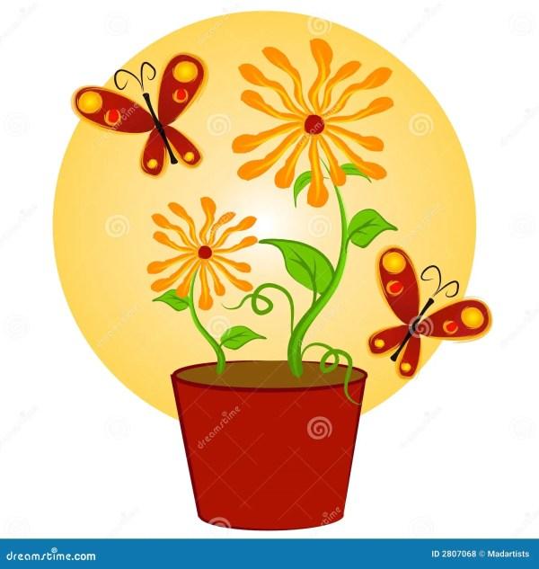 butterflies flowers clip art stock