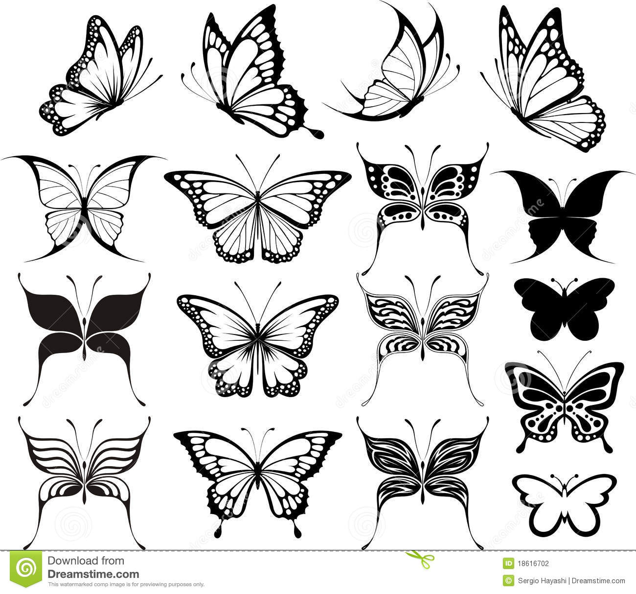 hight resolution of butterfly clipart
