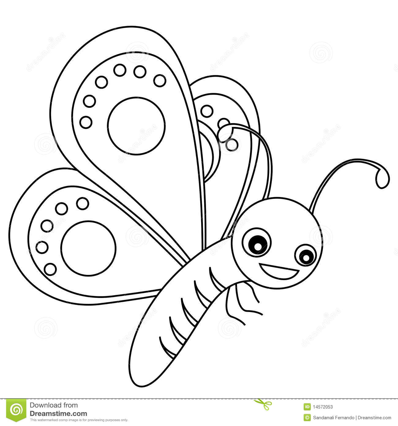 Butterfly Lineart Stock Photos