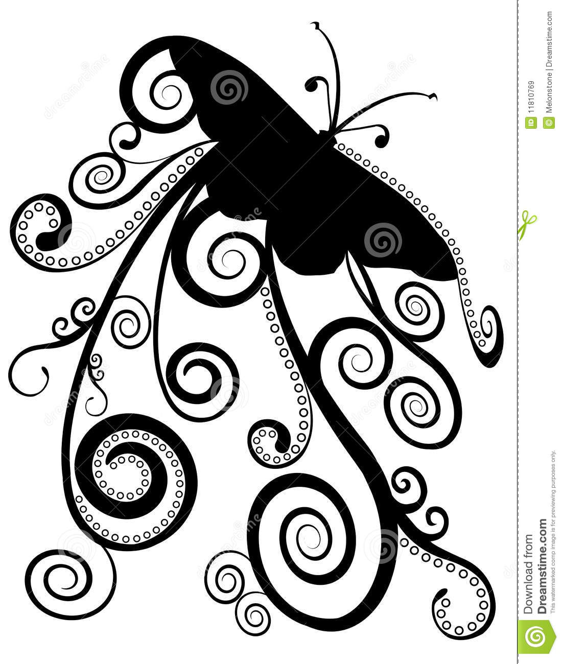 Butterfly Spirals Design Royalty Free Stock Images
