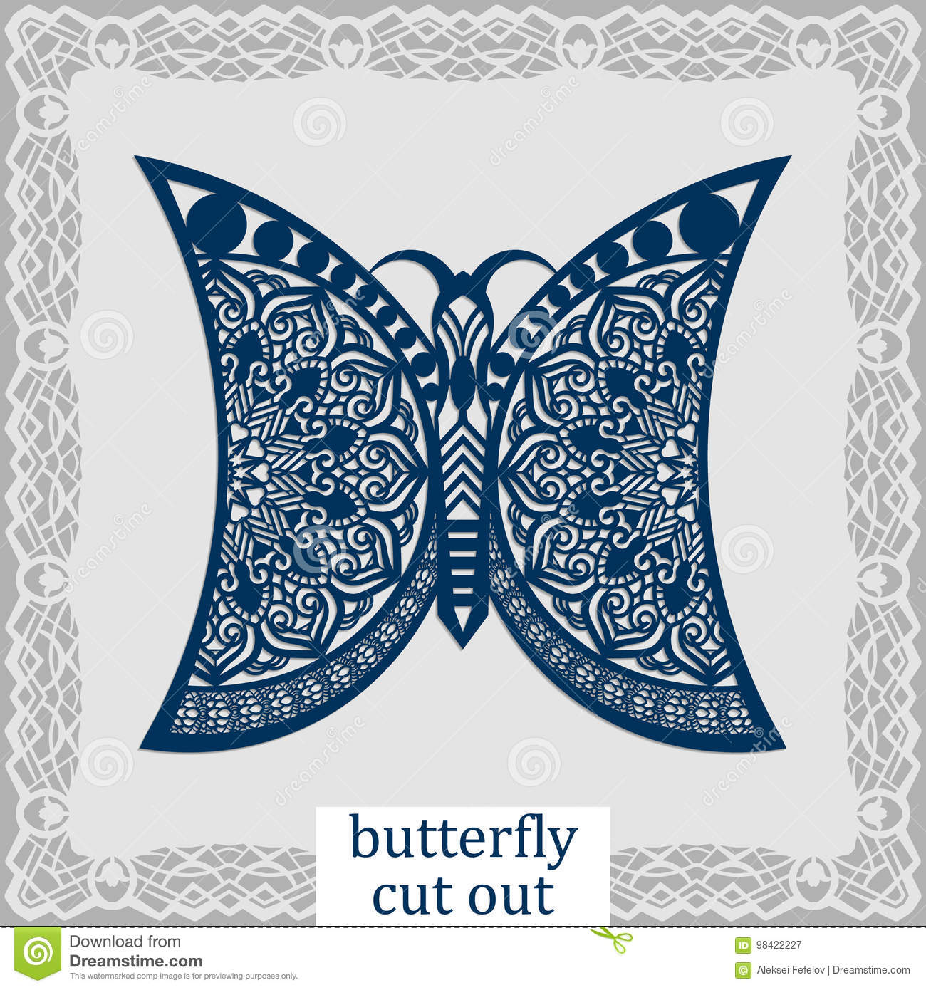 Butterfly - A Template For Laser Cutting. Design Element For A Wedding,  Romantic Meeting Or Greeting Card. Can Be Used As A Decor