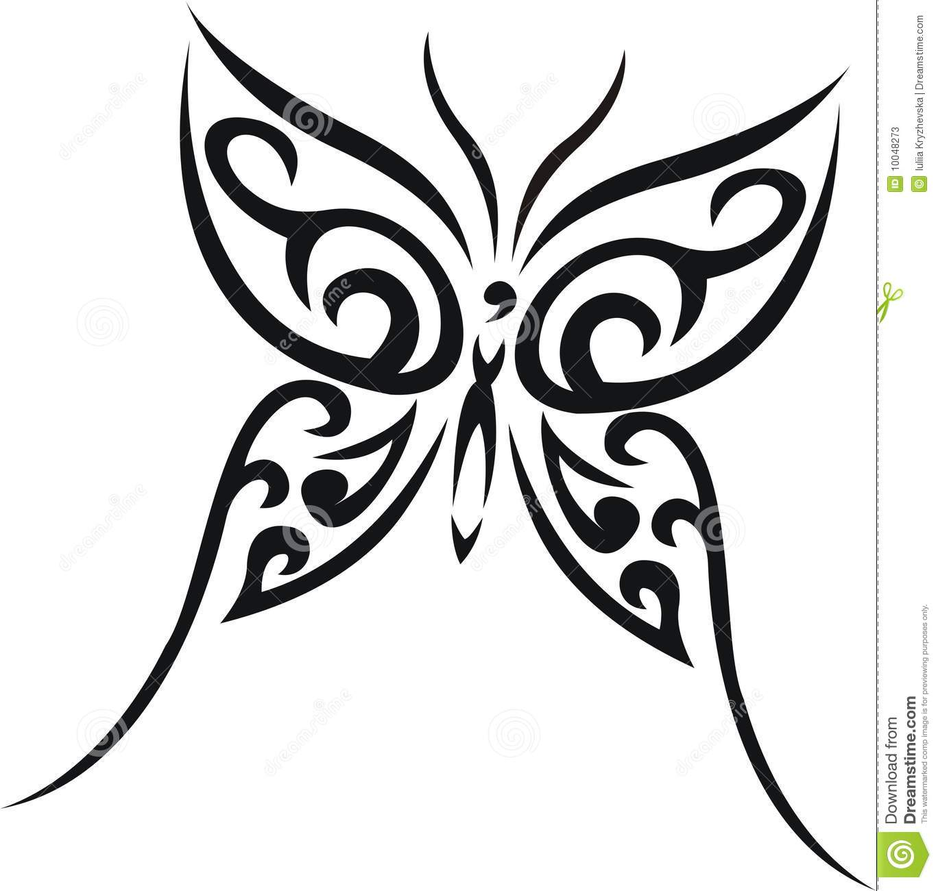 Butterfly Tribal Tattoo Stock Photos