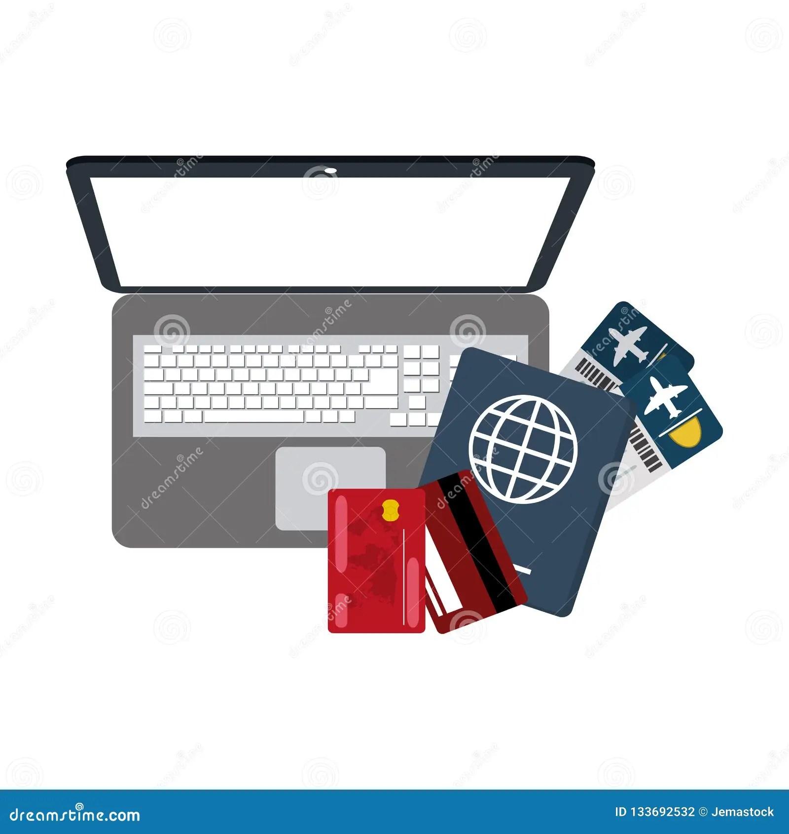 Buy online flight tickets stock vector. Illustration of transportation - 133692532