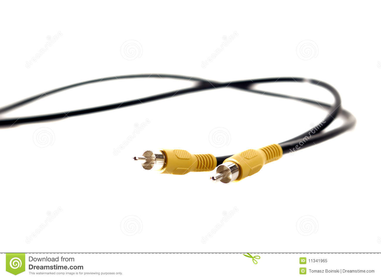 Cable With Cinch Plugs Royalty Free Stock Photo