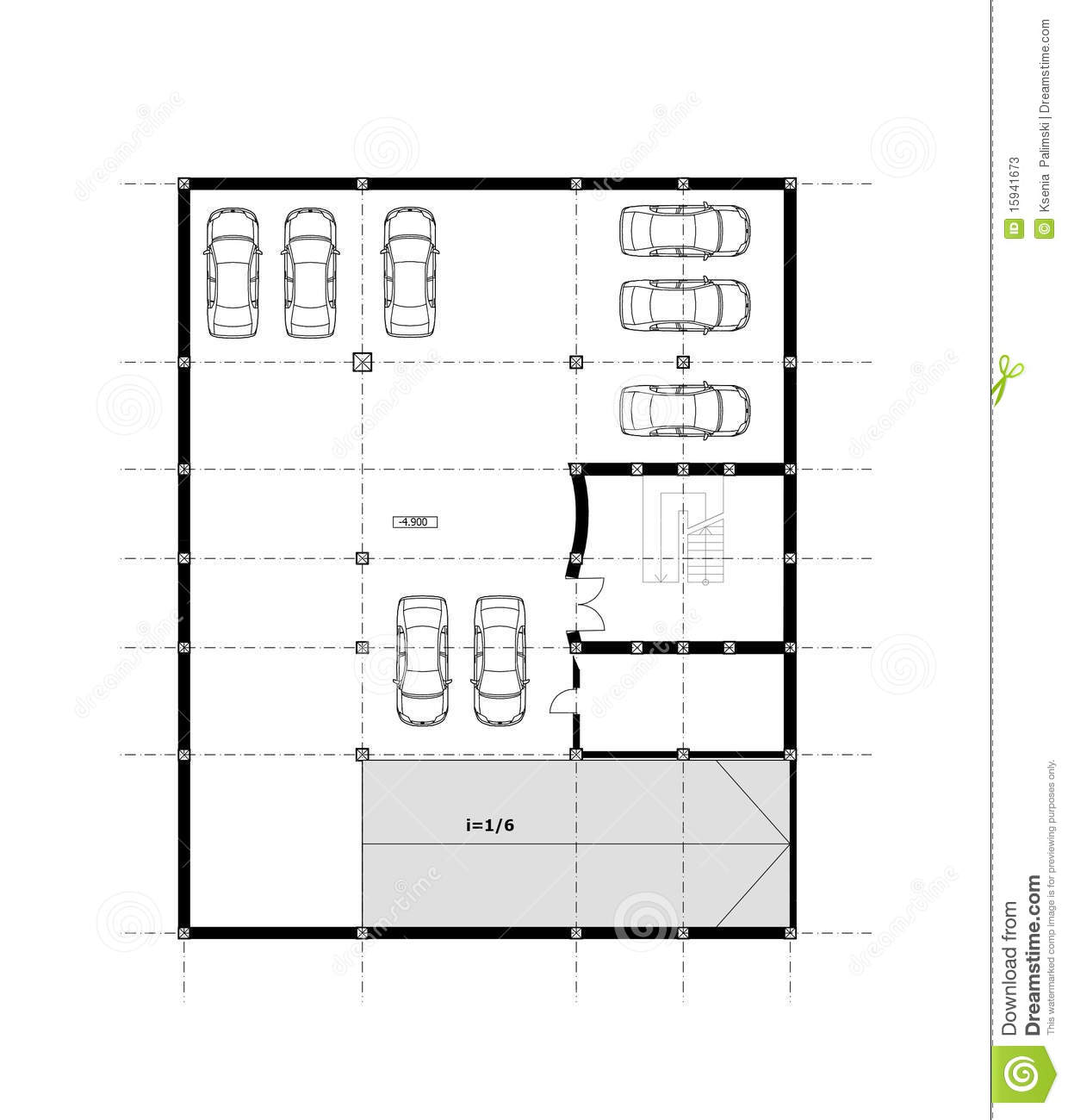 Cad Architectural Plan Drawing Stock Photos