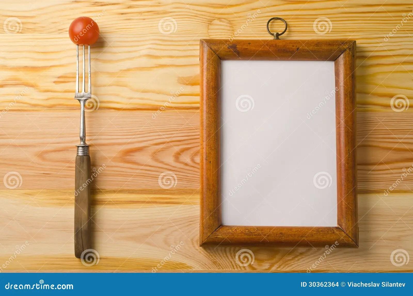 Cadre de menu photo stock Image du dner rouge blanc