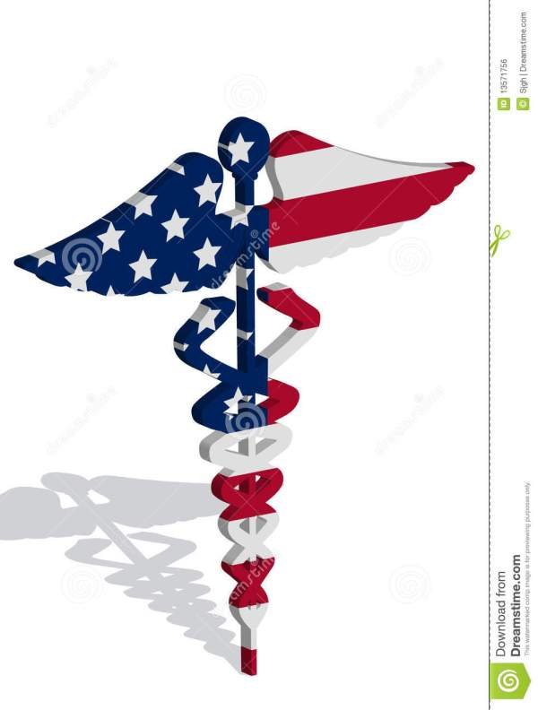 Caduceus With Usa Flag Healthcare Stock Vector - Illustration Of Hand Professional 13571756
