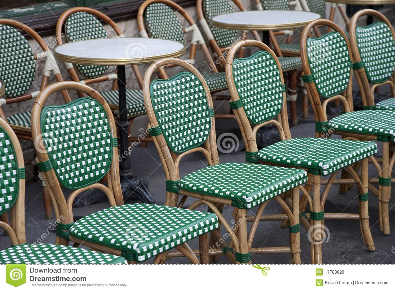 green french bistro chairs chair covers to hire uk cafe paris stock photo image of travel