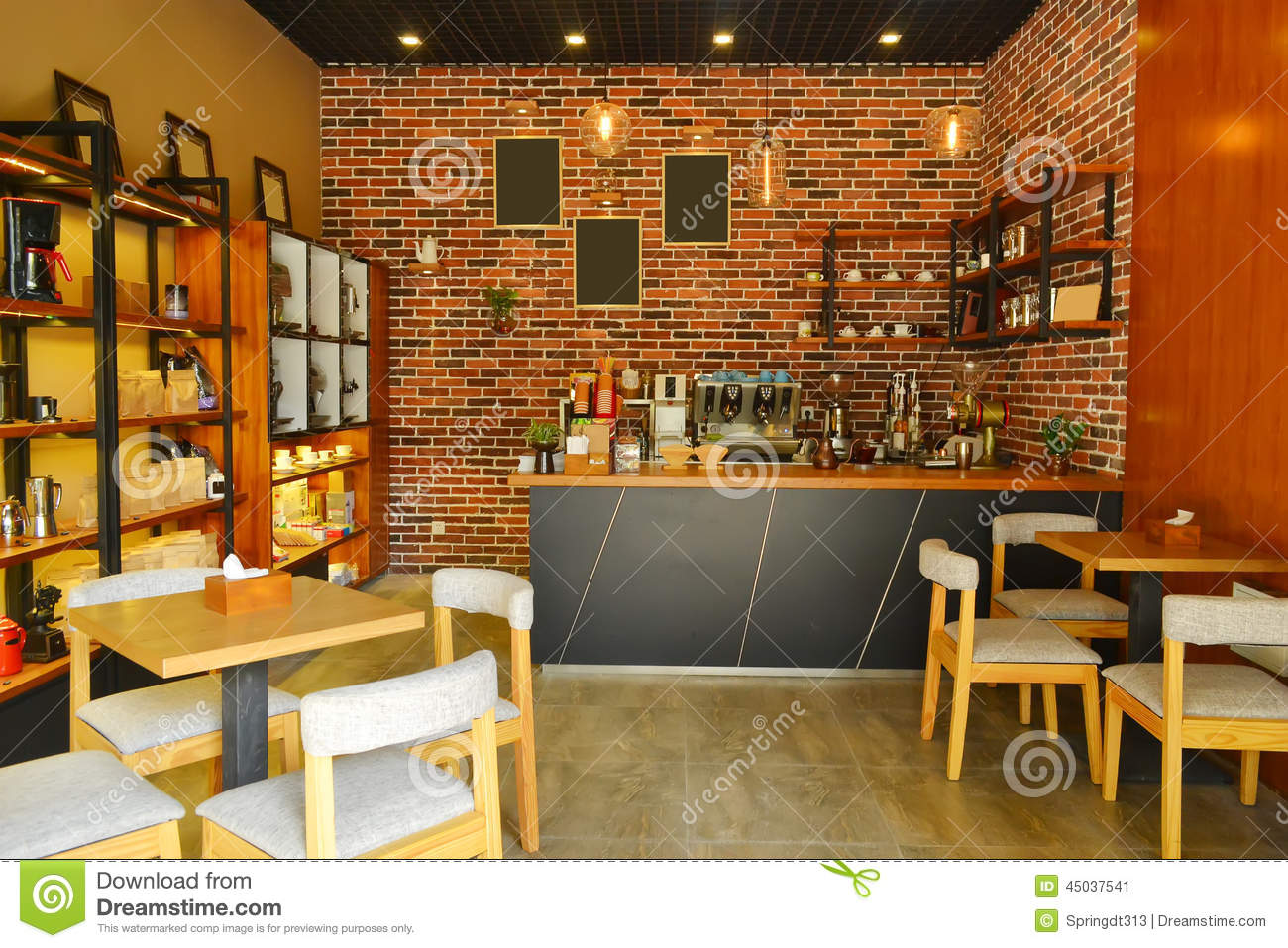 Cafe interior stock image Image of entertainment wine