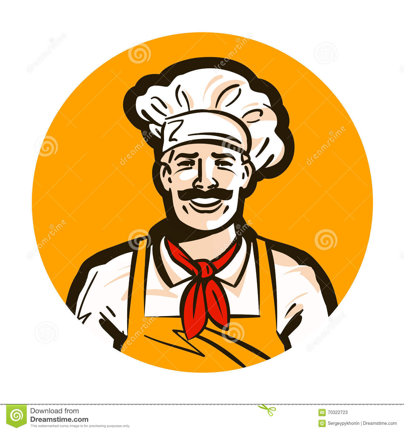 Cafe Restaurant Vector Logo Diner Cook Chef Icon Stock