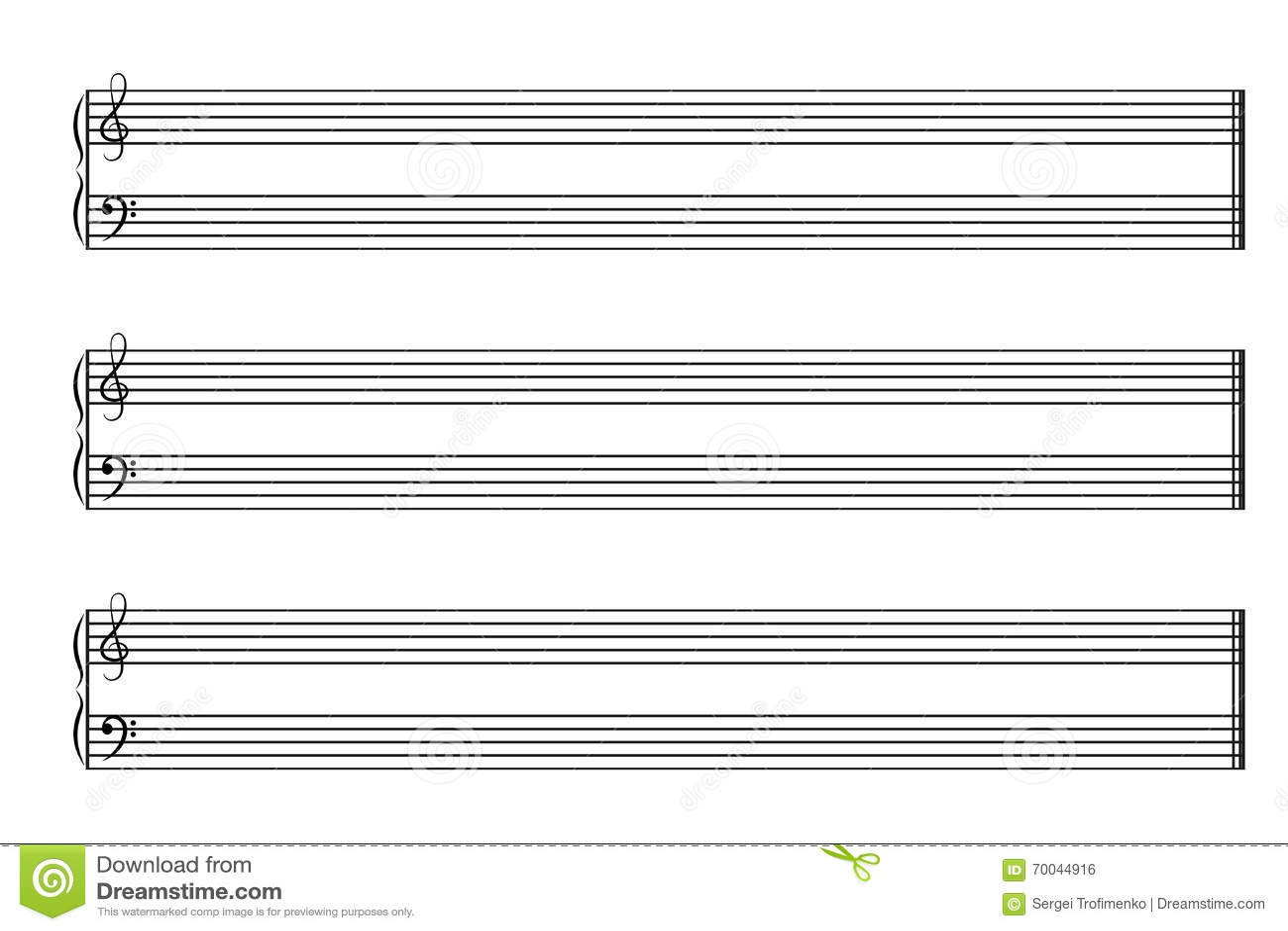 Cahier De Musique De Feuille Avec Les Barres Horizontales
