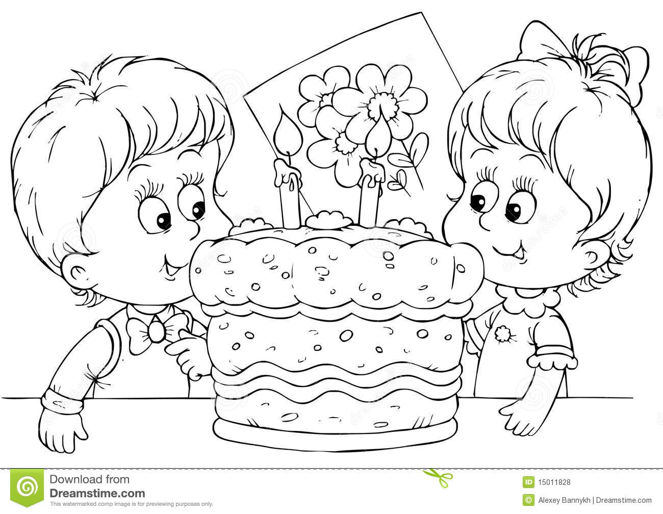 Cake For A Birthday Royalty Free Stock Photos