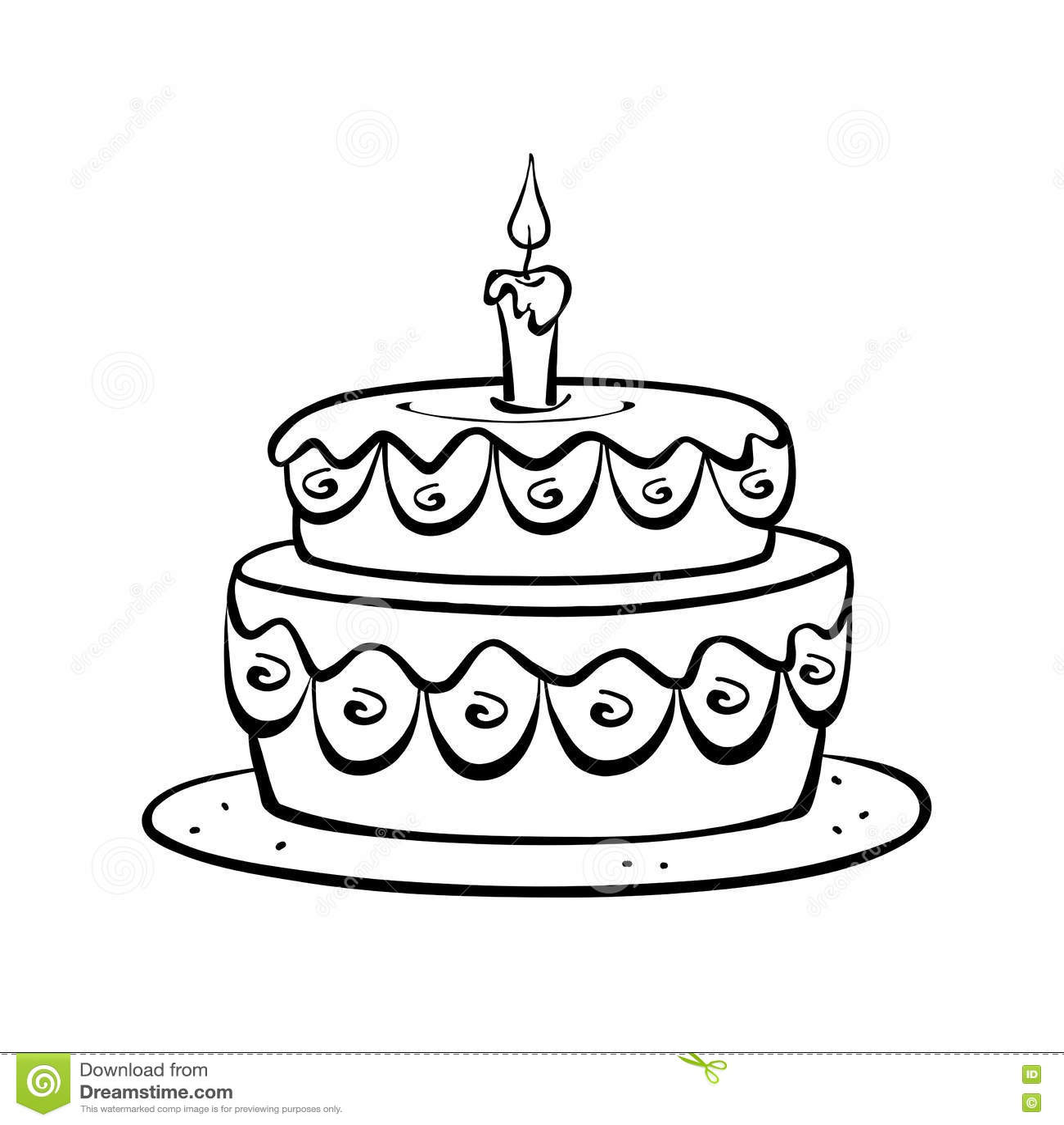 Birthday Cake Stock Illustration Illustration Of