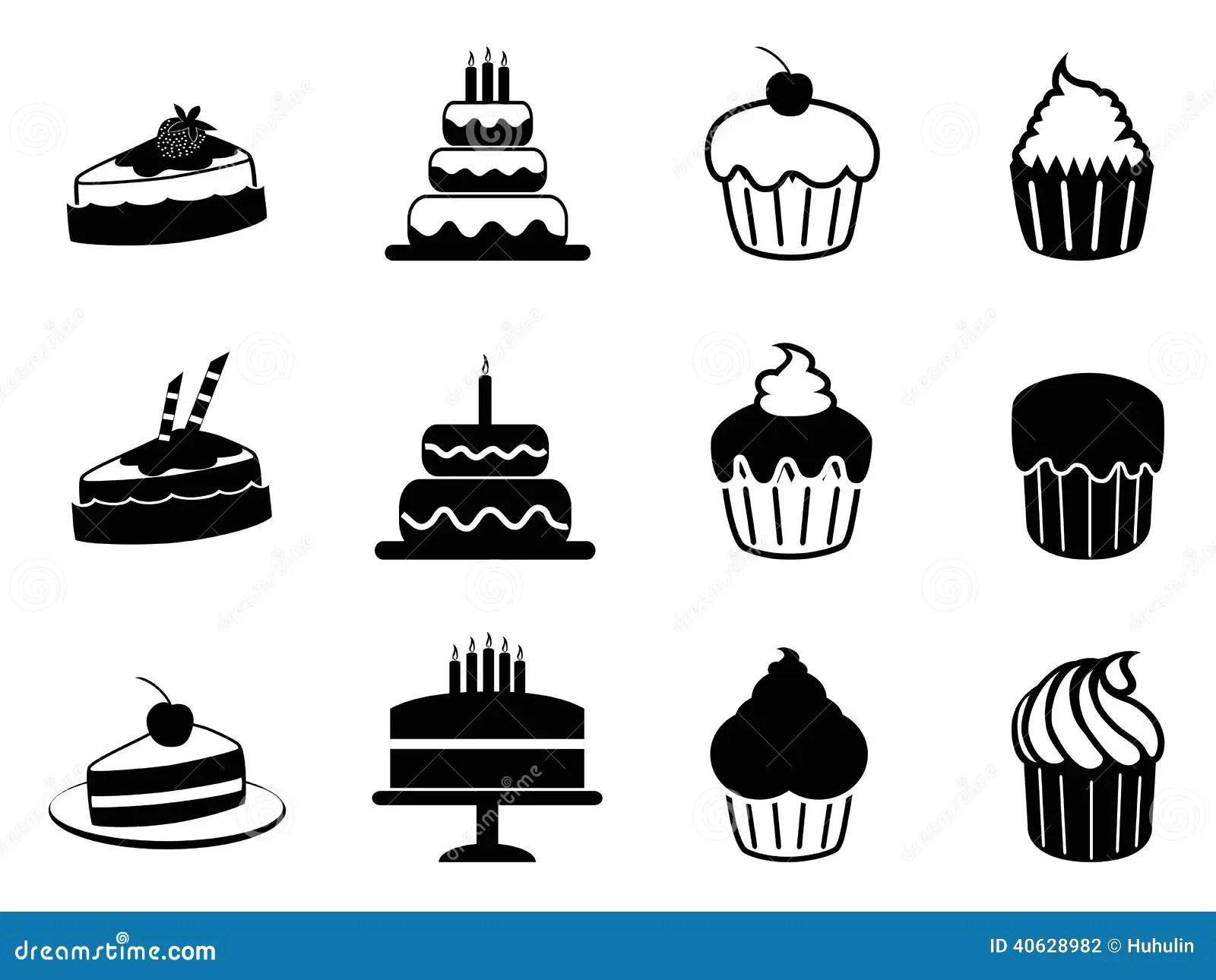 Cake Icons Set Stock Vector Illustration Of Bake Group