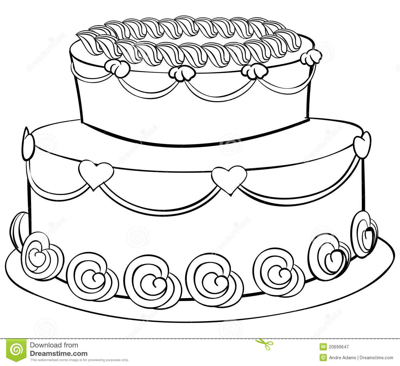 Tiered Cake Coloring Pages