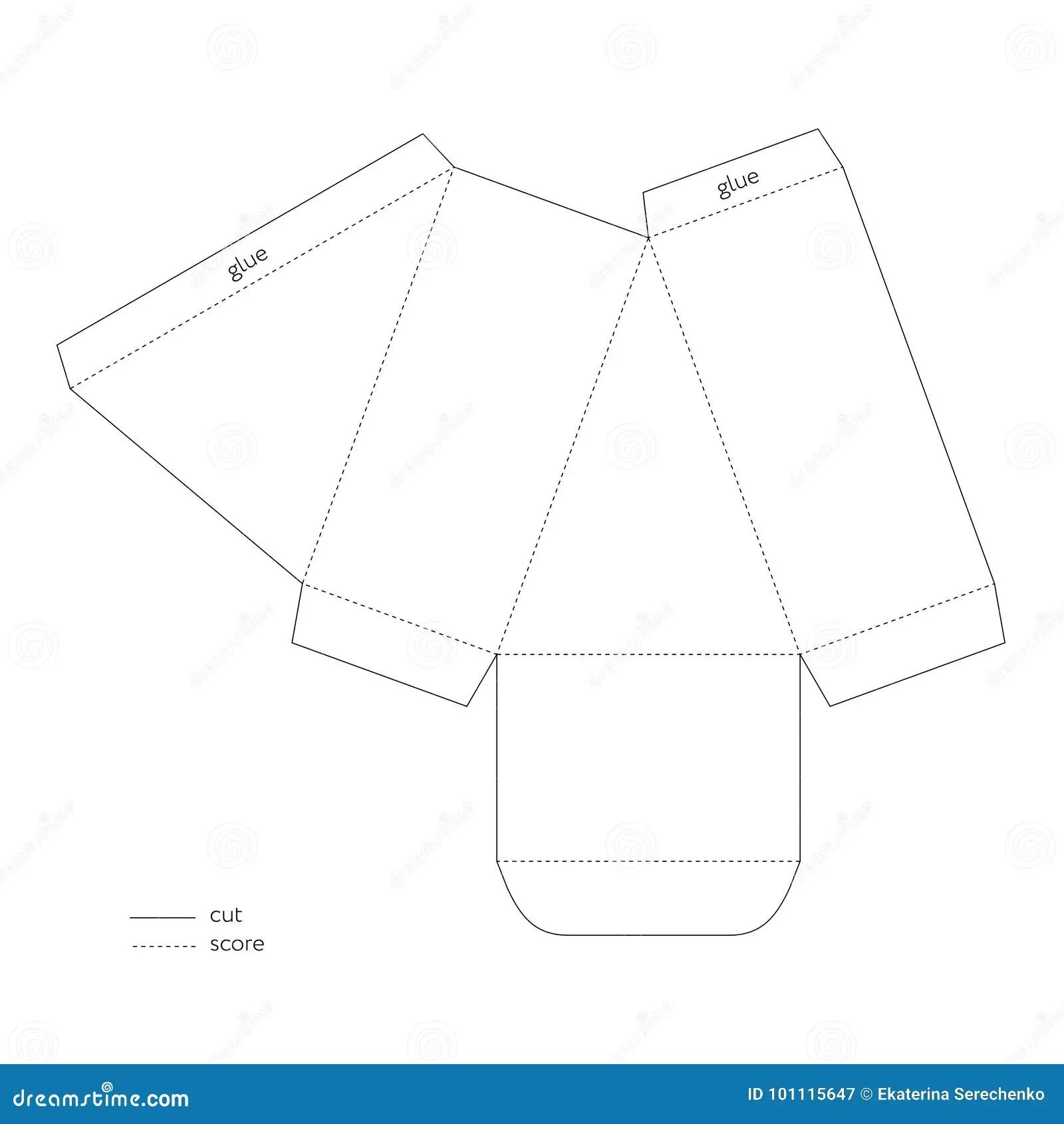 Box Cutout Template. free download sample die cut