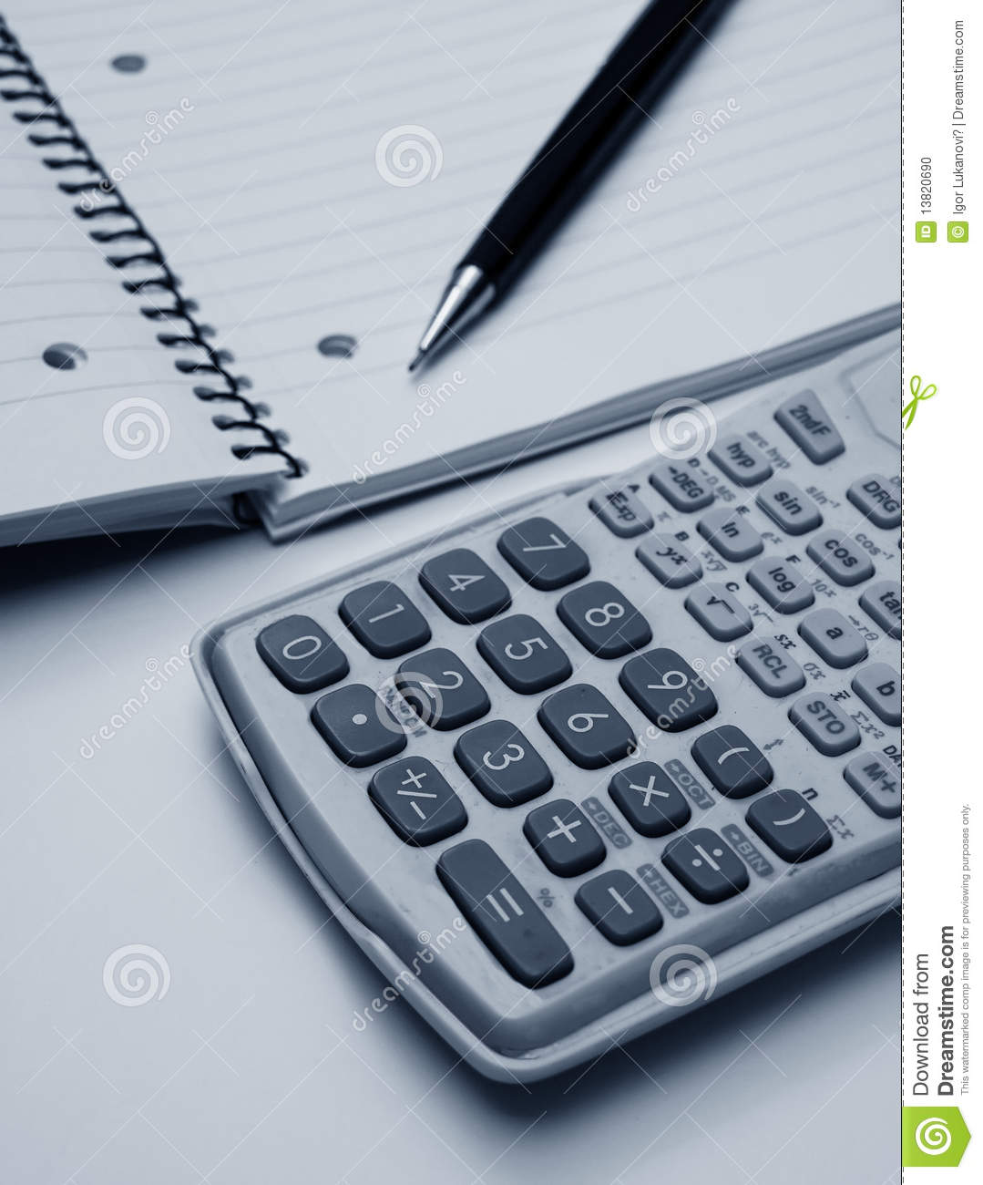 Calculator And Pen Stock Photo Image Of Educate