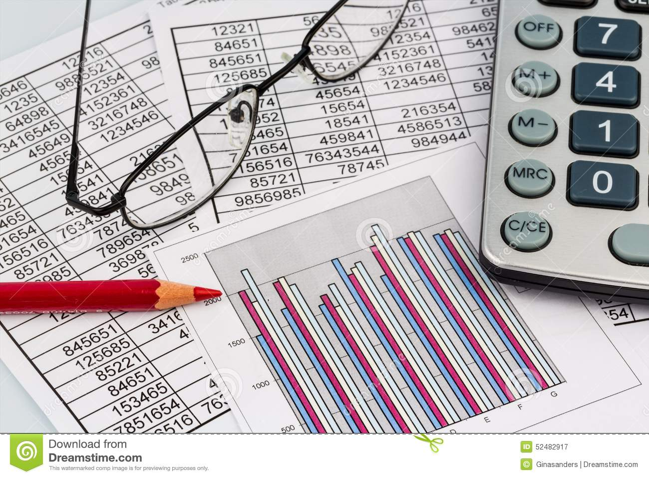 Calculator And Statistic Stock Image Image Of Expenditure