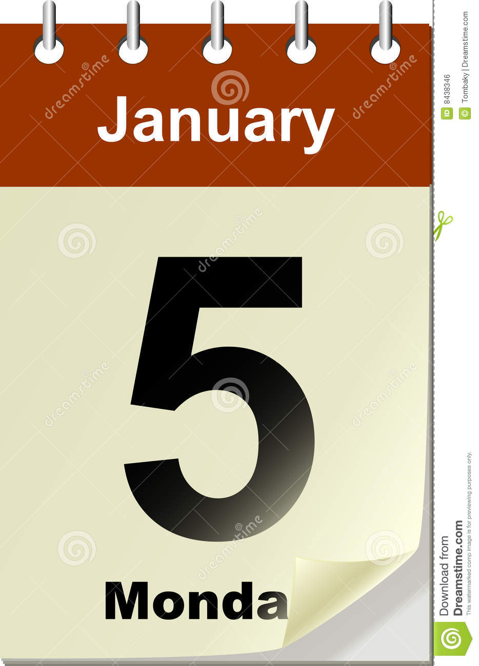 calendar with bend page