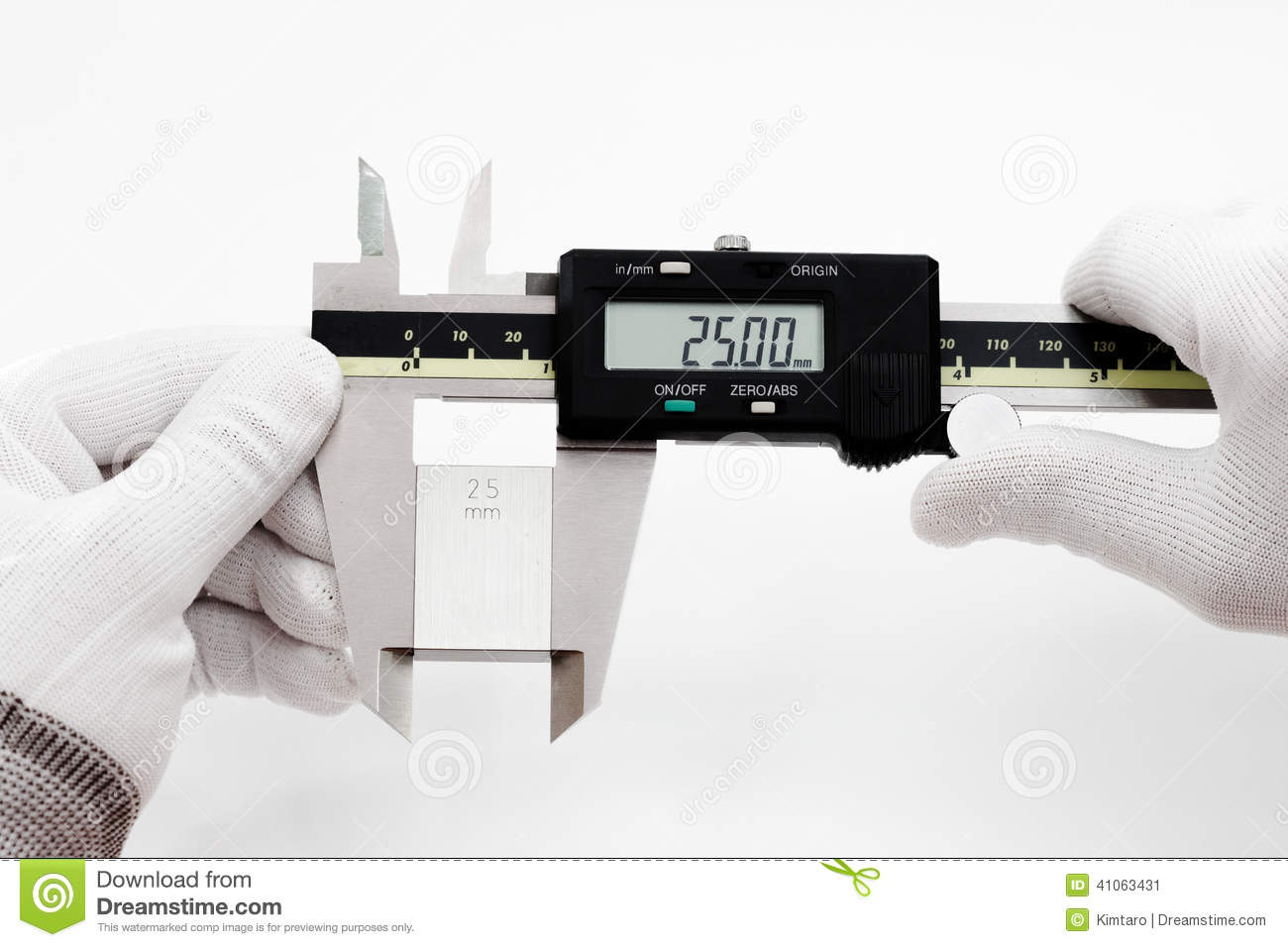 Calibration Digital Vernier With Gage Block Stock Photo