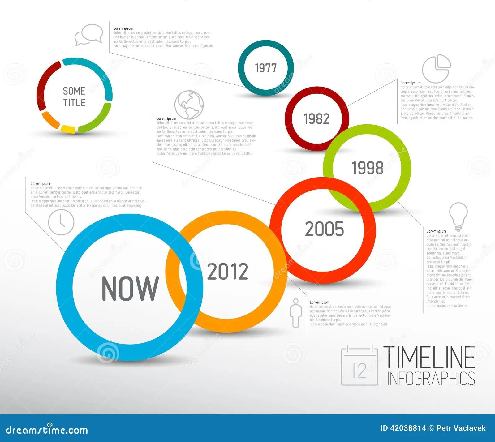 Calibre De Rapport De Chronologie De Lumière D'Infographic