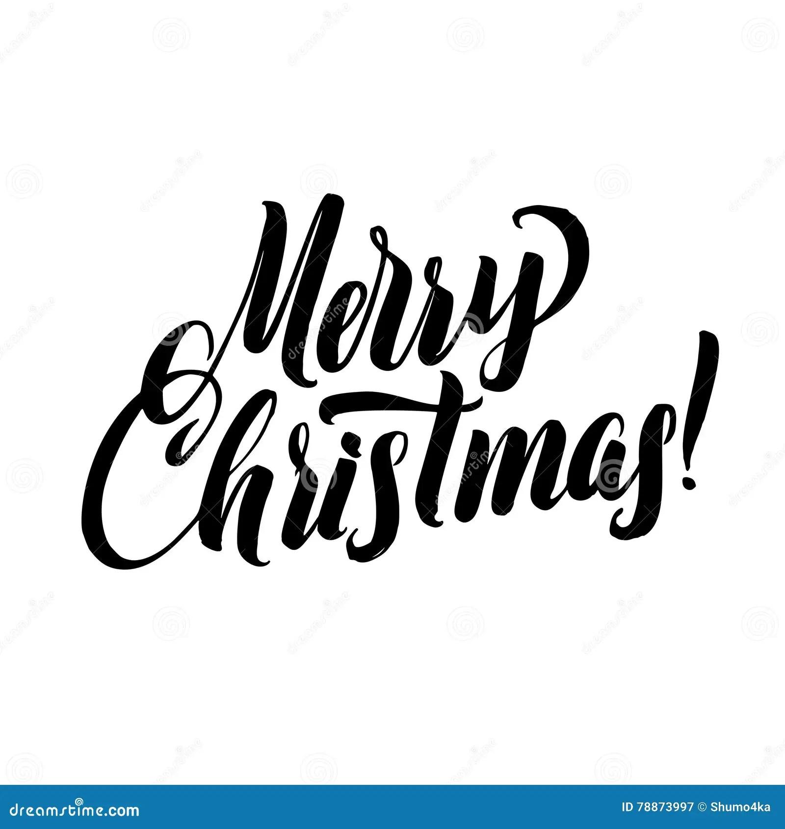 Caligrafia De La Feliz Navidad Tipografia Del Negro De La