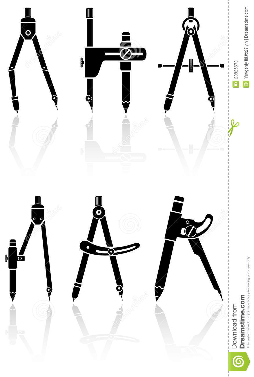 Calipers stock vector. Illustration of device, compasses