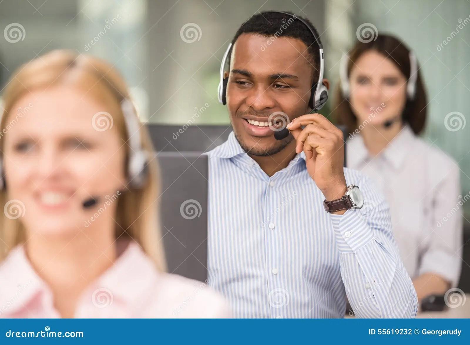 Call Center Stock Photo Image Of Communication Desk