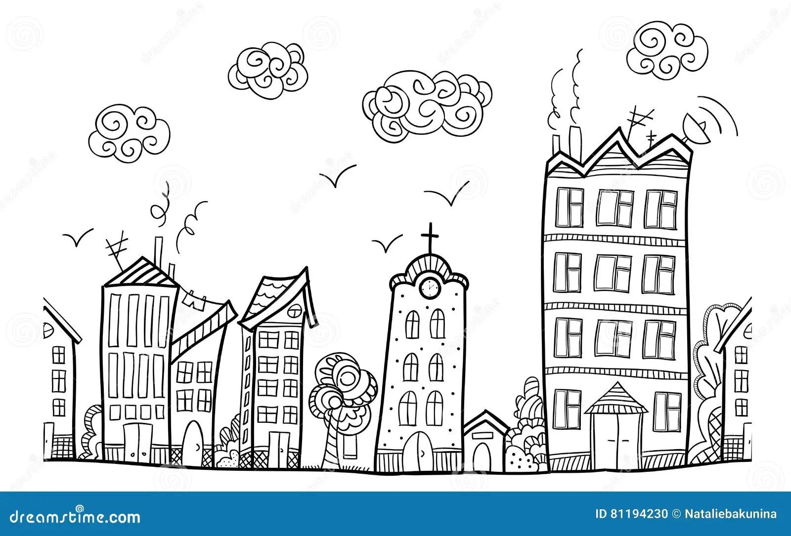 Calle De La Ciudad Ornamento Repetido Ilustracion Del