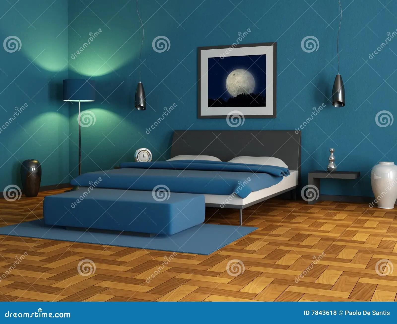 Camere Da Letto Blu : Camere da letto parete blu colori freddi verde e blu per case