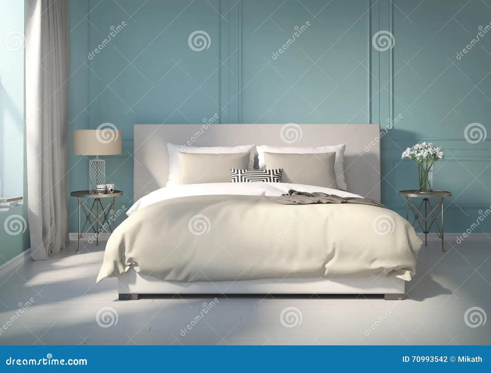 Camere Da Letto Blu : Camera da letto parete blu camera da letto colorare le pareti
