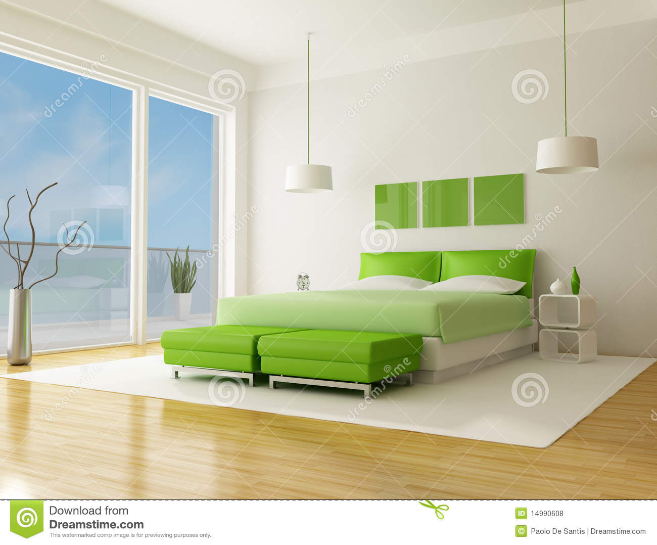 Camera Da Letto Verde Tiffany Camera Da Letto Verde Illustrazione Di Stock Illustrazione Di