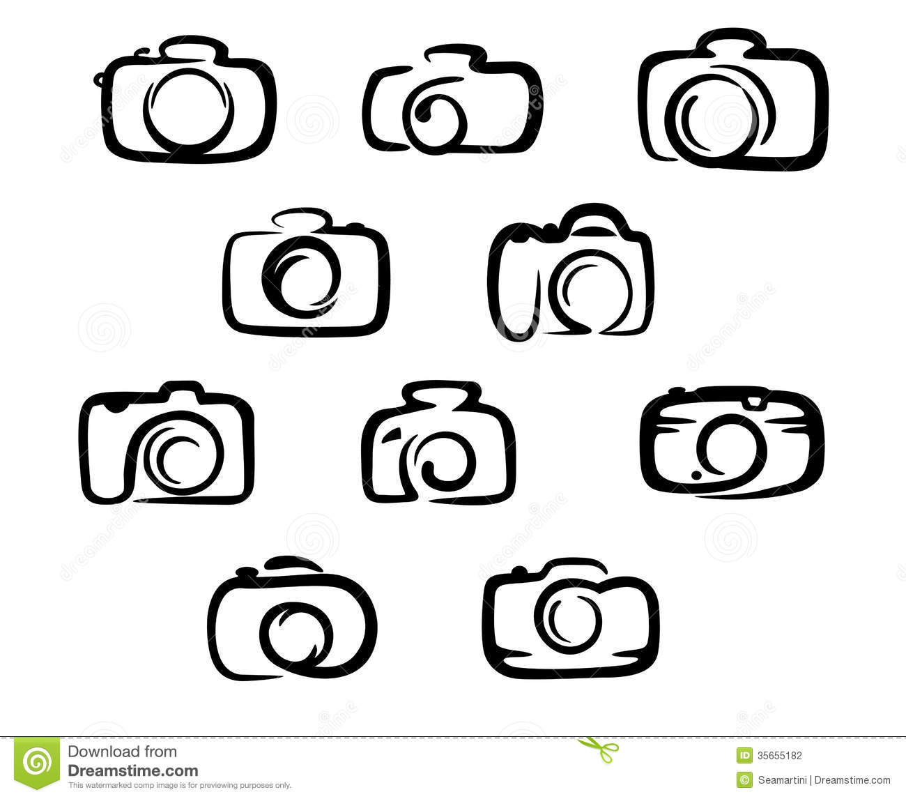 Camera Icons Set Stock Vector Image Of Flare Photograph