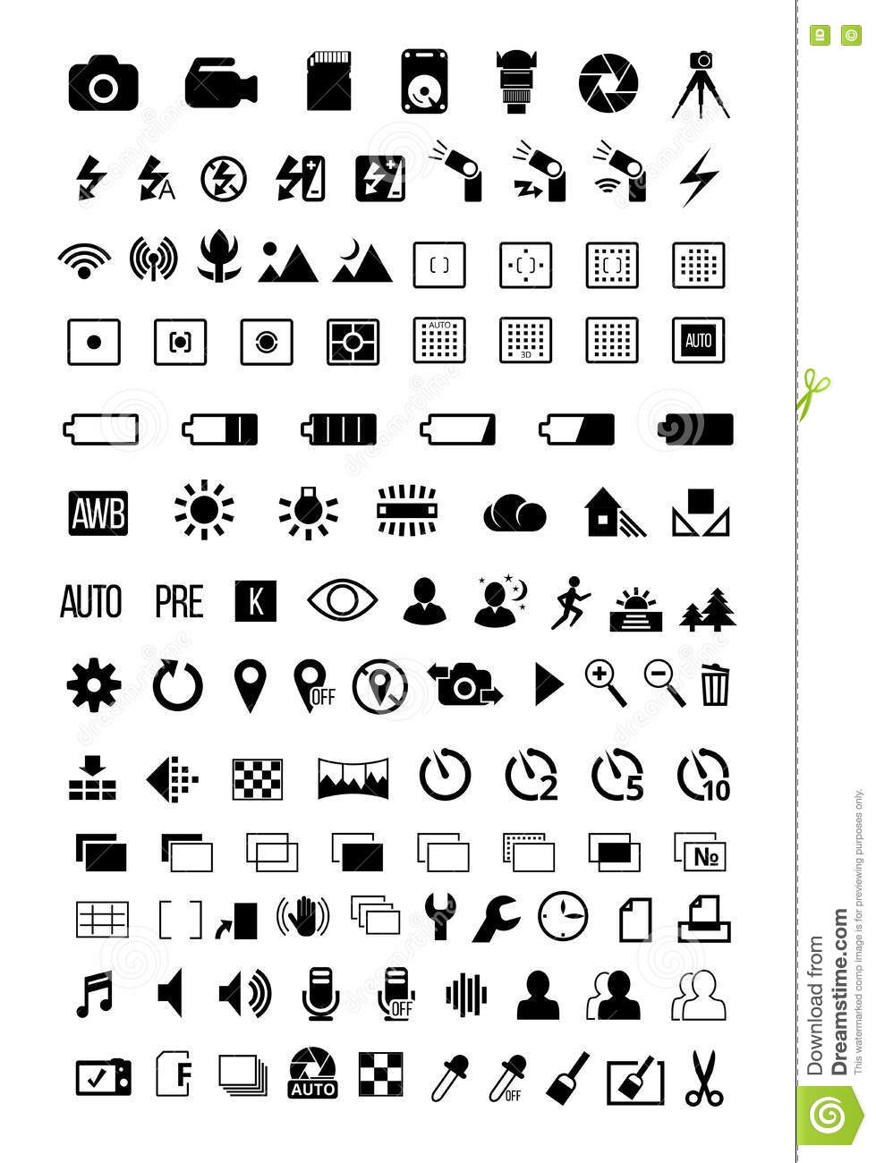 Camera mode Icons stock vector. Illustration of lens